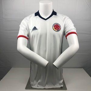 Nike White Navy Red Columbia Away Football Jersey
